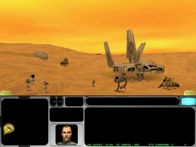 une photo d'écran de Star Wars - Force Commander sur PC