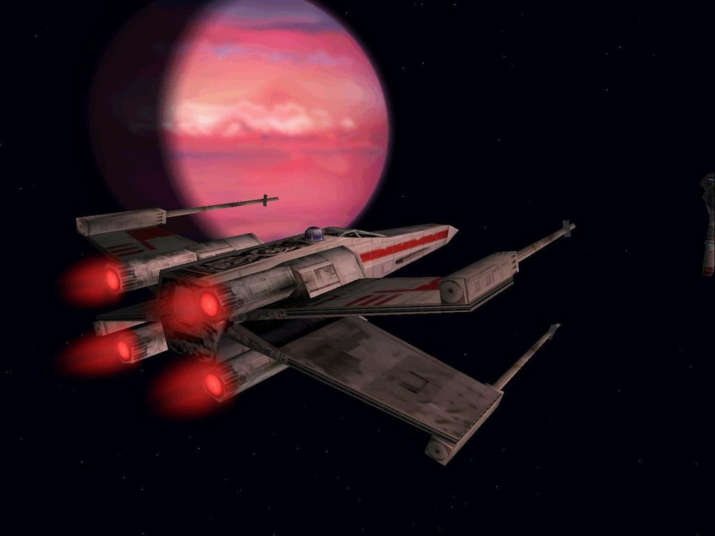 une photo d'écran de Star Wars - X-Wing Alliance sur PC