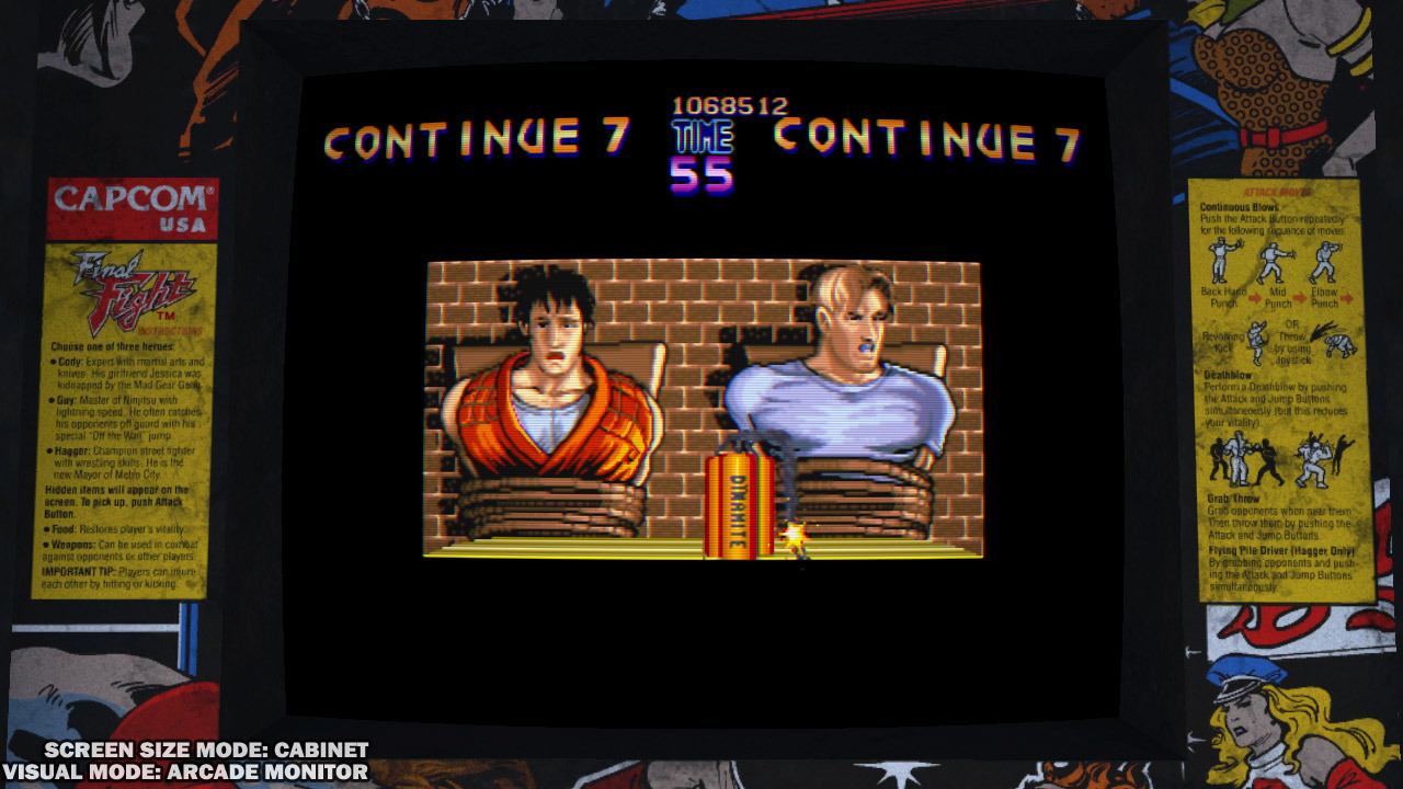 une photo d'écran de Final Fight Double Impact sur Playstation Network