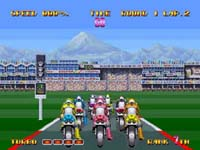 une photo d'écran de Riding Hero sur SNK Neo Geo