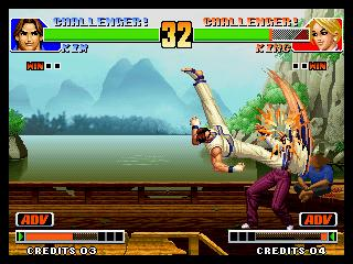 une photo d'écran de The King of Fighters 98 sur SNK Neo Geo