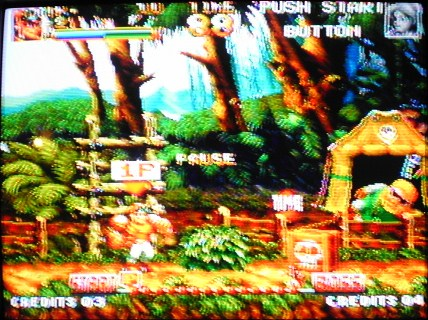 une photo d'écran de Top Hunter sur SNK Neo Geo