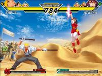 Capcom VS SNK 2 - Millionaire Fighting 2001, capture décran