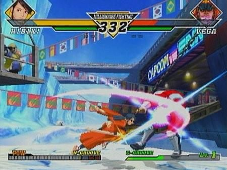 une photo d'écran de Capcom VS SNK 2 - Millionaire Fighting 2001 sur Sega Dreamcast