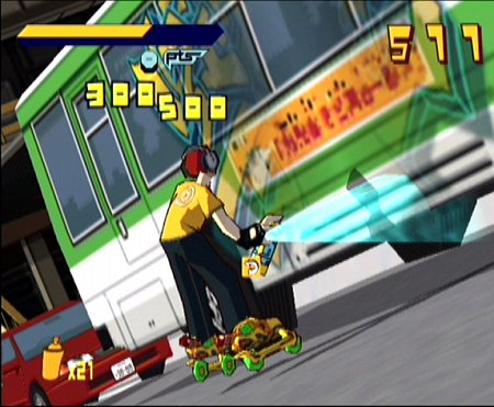 une photo d'écran de Jet Set Radio sur Sega Dreamcast