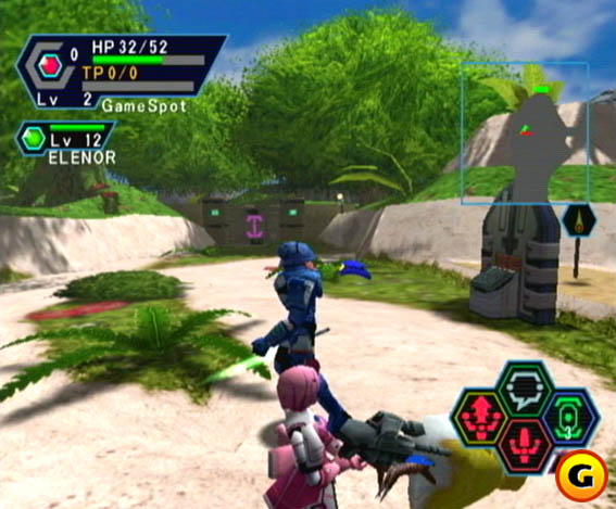 une photo d'écran de Phantasy Star Online sur Sega Dreamcast