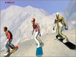 une photo d'écran de Sega Extreme Sports sur Sega Dreamcast