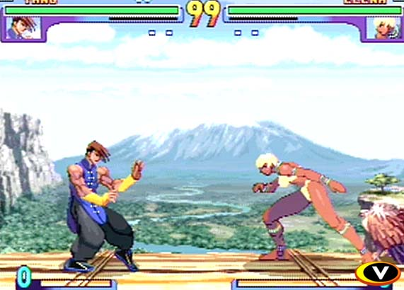 une photo d'écran de Street Fighter 3 - Double Impact sur Sega Dreamcast