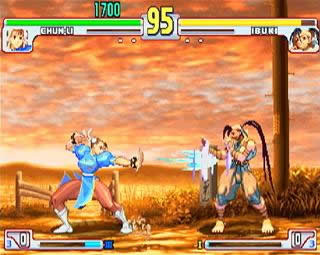 une photo d'écran de Street Fighter 3 - Third Strike sur Sega Dreamcast