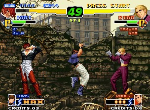 une photo d'écran de The King of Fighters 2000 sur Sega Dreamcast