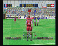 Virtua Striker 2 version 2000, capture d'écran