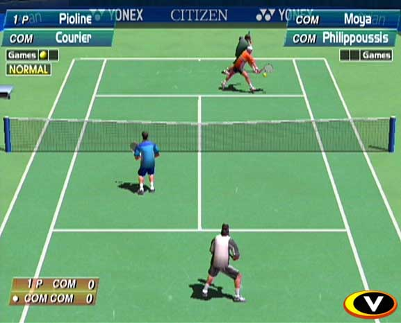 une photo d'écran de Virtua Tennis sur Sega Dreamcast