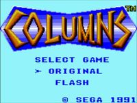 Columns sur Sega Game Gear