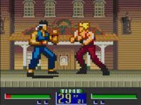 une photo d'écran de Virtua Fighter Animation sur Sega Game Gear