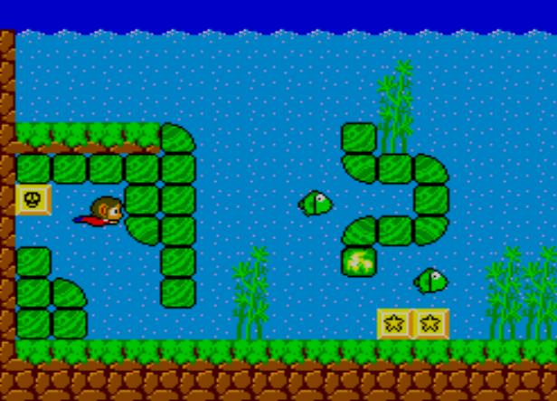 une photo d'écran de Alex Kidd in Miracle World sur Sega Master System