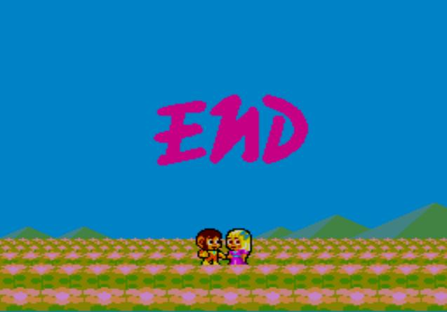 une photo d'écran de Alex Kidd in Shinobi World sur Sega Master System