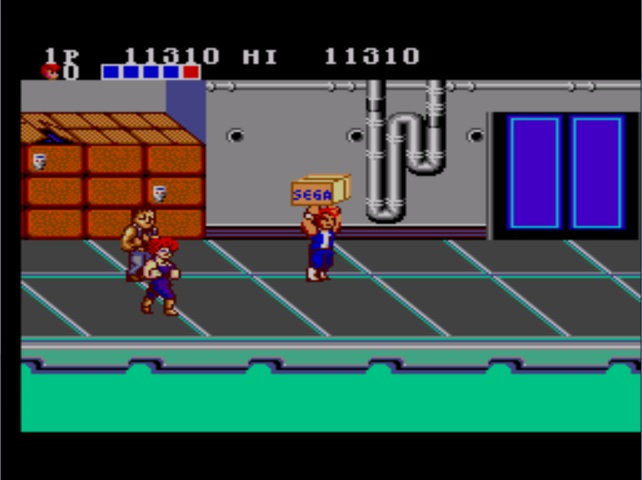 une photo d'écran de Double Dragon sur Sega Master System