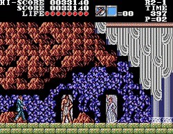 une photo d'écran de Master Of Darkness sur Sega Master System
