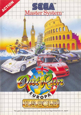 Photo de la boite de OutRun Europa