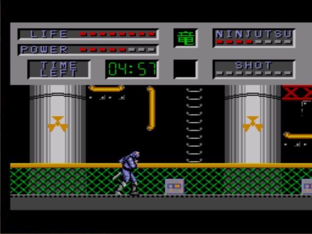 une photo d'écran de The Cyber Shinobi sur Sega Master System