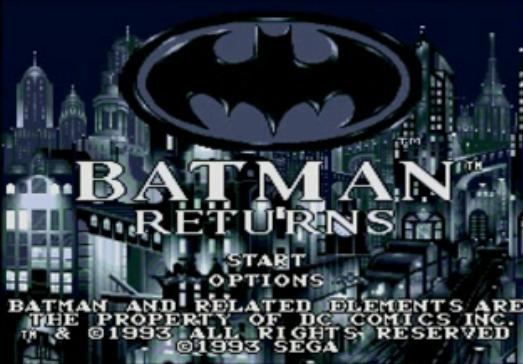 une photo d'écran de Batman Returns sur Sega Mega-CD