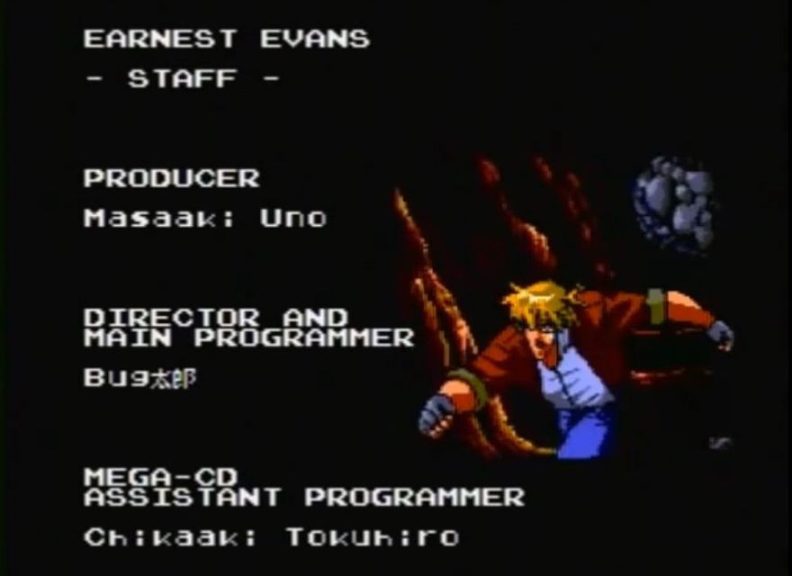 une photo d'écran de Earnest Evans sur Sega Mega-CD