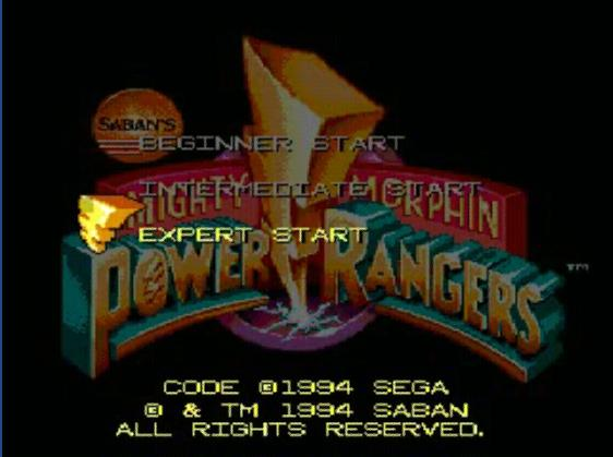 une photo d'écran de Mighty Morphin Power Rangers (Mega CD) sur Sega Mega-CD