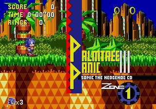 une photo d'écran de Sonic CD sur Sega Mega-CD