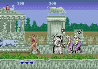 une photo d'écran de Altered Beast sur Sega Megadrive