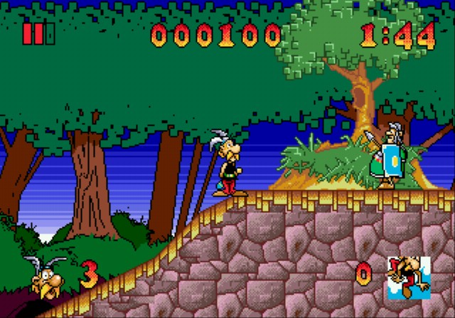 une photo d'écran de Asterix and the Great Rescue sur Sega Megadrive