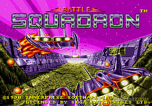une photo d'écran de Battle Squadron sur Sega Megadrive
