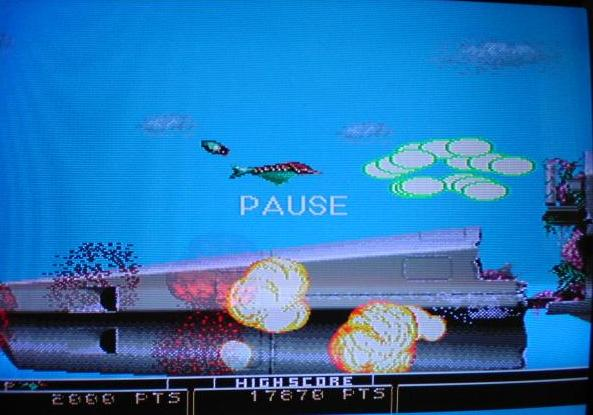 une photo d'écran de Bio Hazard Battle sur Sega Megadrive