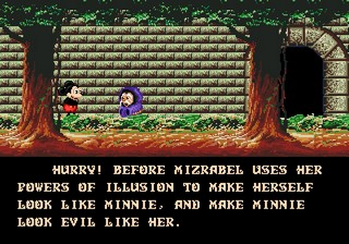 Castle of Illusion sur Sega Megadrive