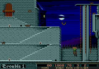 une photo d'écran de Dark Castle sur Sega Megadrive