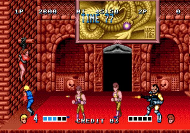 une photo d'écran de Double Dragon sur Sega Megadrive