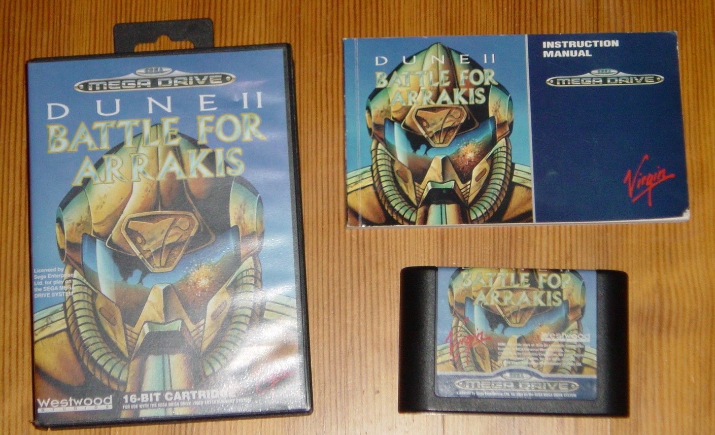 une photo d'écran de Dune II - Battle for Arrakis sur Sega Megadrive