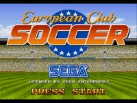 European Club Soccer, capture d'écran