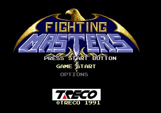 une photo d'écran de Fighting Masters sur Sega Megadrive