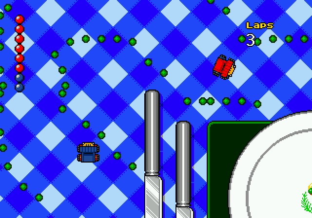 une photo d'écran de Micro Machines Turbo Tournament 96 sur Sega Megadrive