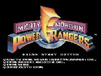 Mighty Morphin Power Rangers (Megadrive), capture d'écran