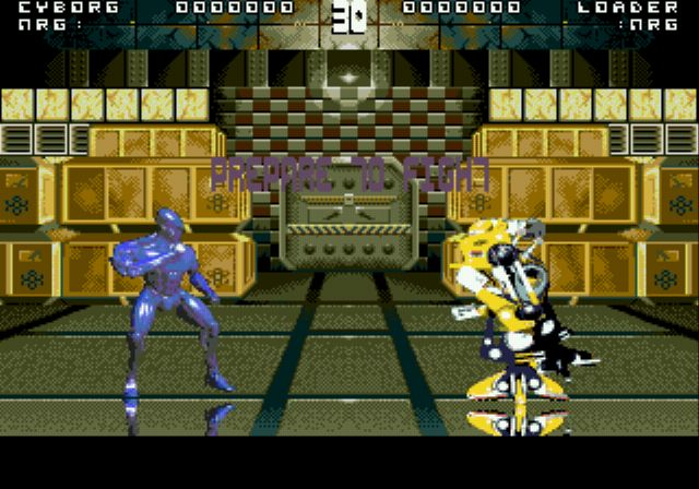 une photo d'écran de Rise of the Robots (Megadrive) sur Sega Megadrive