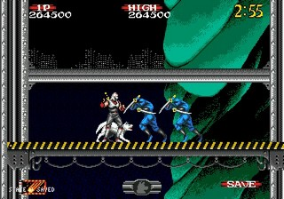 une photo d'écran de Shadow Dancer - The Secret of Shinobi sur Sega Megadrive