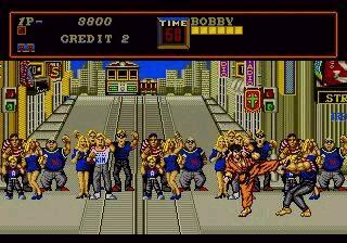une photo d'écran de Street Smart sur Sega Megadrive