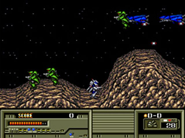 une photo d'écran de Target Earth sur Sega Megadrive