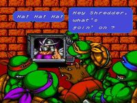 une photo d'écran de Teenage Mutant Hero Turtles - The Hyperstone Heist sur Sega Megadrive