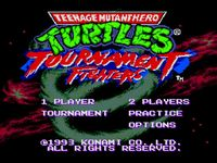 Teenage Mutant Hero Turtles - Tournament Fighters (Megadrive), capture décran