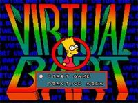 une photo d'écran de Virtual Bart sur Sega Megadrive