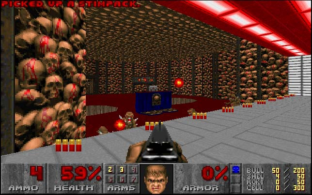 une photo d'écran de Doom sur Sega Saturn