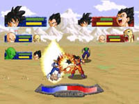 une photo d'écran de Dragon Ball Z - The Legend sur Sega Saturn
