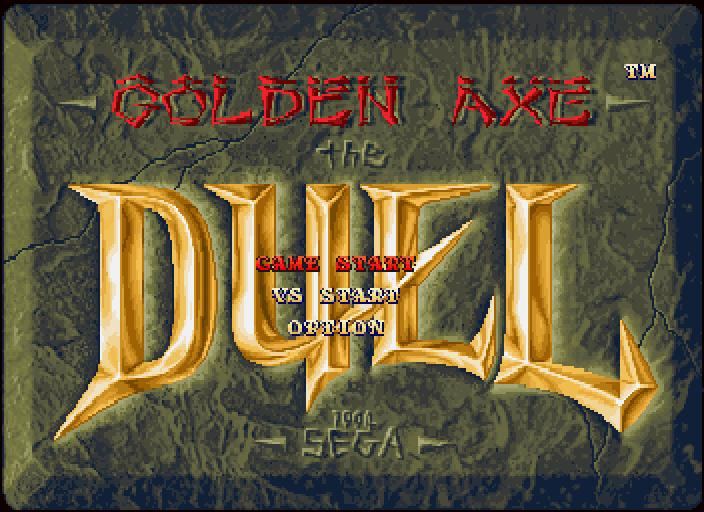une photo d'écran de Golden Axe The Duel sur Sega Saturn